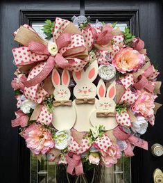 Excited to share the latest addition to my shop: Easter wreath, Spring Wreath, XL Easter Wreath, Easter Bunny Wreath Bunny Crafts, Easter Crafts, Easter Ideas, Holiday Crafts, Kids Crafts, Diy Wreath, Wreath Ideas, Wreath Crafts, Easter Wreaths