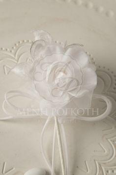 Μένη Ρογκότη - Μπομπονιέρα γάμου υφασμάτινο λουλούδι λευκό Icing, Desserts, Tailgate Desserts, Dessert, Deserts, Food Deserts, Postres