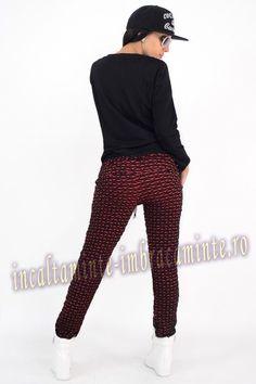 Trening Dama Casual Negru Cu Rosu Model Deosebit Online Shopping For Women, Suits, Clothes For Women, Casual, Model, Fashion, Outerwear Women, Moda