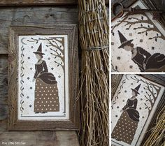Victorian Witch - PDF Cross Stitch Pattern by The Little Stitcher