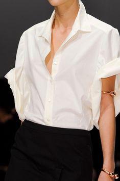 Veronique Branquinho SS 2013, white shirt, black pants