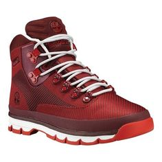 Timberland Mens EURO Hiker Jacquard Hiking Boot Medium Red/Haute Red Size 8 * Learn more by visiting the image link. (This is an affiliate link) Timberland Euro Hiker, Timberland Waterproof Boots, Timberland Mens, Best Hiking Boots, Hiking Boots Women, Hiking Shoes, Hiking Gear, Timberland Boots Outfit, Timberlands Shoes