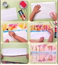 Идеи для творчества . - Поделки с детьми | Деткиподелки Drawing For Kids, Painting For Kids, Art For Kids, Projects For Kids, Crafts For Kids, Kindergarten Art Projects, Kids Zone, Spray Painting, Fall Crafts