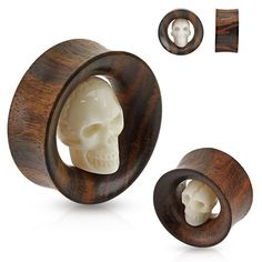 Carved Skull Inside Organic Sono Wood Saddle Fit Tunnel