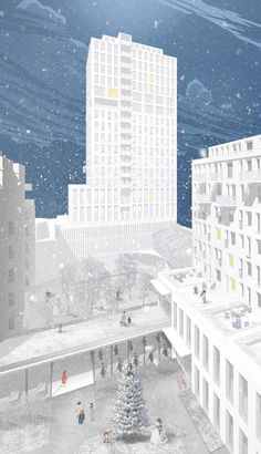 Image 24 of 40 from gallery of 20 Finalists Announced in International Housing Competition for Russia. LLC Archi Fellows Entry. Image Courtesy of Strelka KB