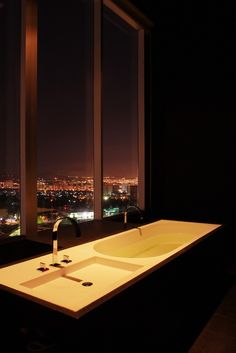 Sleek, modern bathrooms have deep tubs and Acqua di Parma products. #Jetsetter