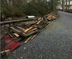 We removed some old deck boards at a home in Arnold MD