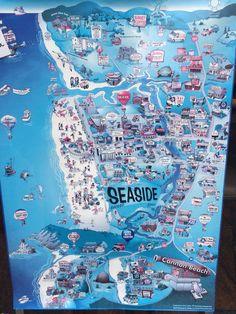 Seaside, Oregon map