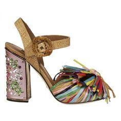 Fringed Embellished Sandals