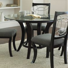 Shop Steve Silver Company Cayman Black Round Dining Table at Lowes.com