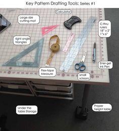 Key pattern drafting tools!! Series #1 @SoftGoodsJess