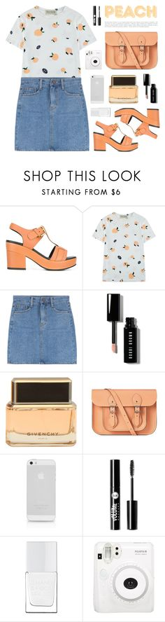 """""""You're A Peach 🍑"""" by cara-mia-mon-cher ❤ liked on Polyvore featuring Cotélac, Être Cécile, Bobbi Brown Cosmetics, Givenchy, The Cambridge Satchel Company, AT&T, Charlotte Russe, The Hand & Foot Spa and Fuji"""