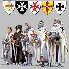 A Knight Templar and fellow knights from other nations.