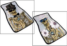 Mr and Mrs Skully Pirate Art Car Mat set of 2 from my by maremade, $69.99