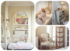 White and pink nursery