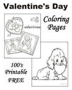 Valentine's Day coloring pages!