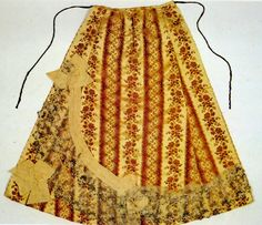 Croatia- Split. The formal apron is not pleated, but is sewn of three flared pieces from colored satin, silk or brocade which may be of various colors.