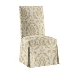 Ballard Designs  Parsons Chair Slipcover  Special Order Fabrics - Como Ikat Dijon Sunbrella