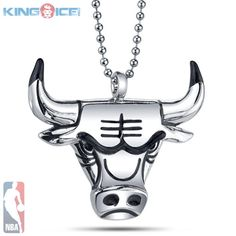 Official NBA Chicago Bulls Medallion Necklace