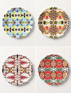 Anthropolgie - melamine plates