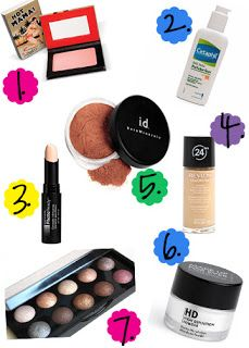 7 Favorite Makeup Products
