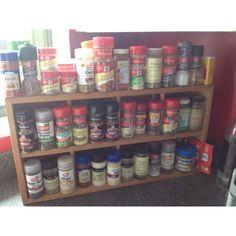 Re-use an old CD Jewel Case Rack Organizer - as a Spice Rack Storage