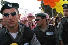 gay police pride   pride jerusalem is led by a phalanx of stoic police