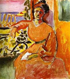 A Woman Sitting before the Window, Henri Matisse