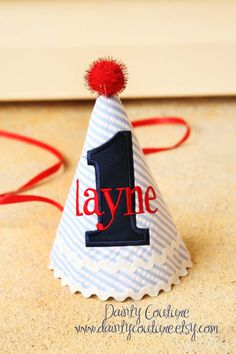Boy First Birthday Party Hat