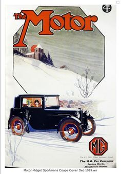 Mg Cars Car Stuff Vintage Posters Magazine Covers December Poster Retro