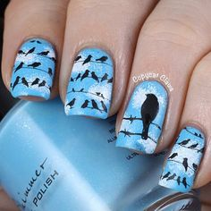 Birds  #nail #nails #nailart