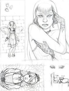 Juliet Mendivil - Illustrator and Painter   Drawings and Sketches
