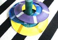 Kids, DIY, lustiges Tellerwerfen, Wurfspiel selbstgemacht, Basteln mit Papptellern, Basteln mit Kindern, Spielen mit Papptellern, Indoor, Schlechtwetter