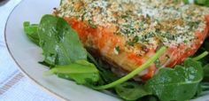 Simple Herb Crusted Salmon #paleo