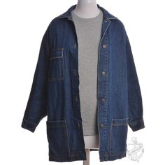 Denim Jacket Stone Wash With Full Lining (1655 TWD) ❤ liked on Polyvore featuring outerwear, jackets, jean jacket, blue jackets, blue jean jacket, multi pocket jacket and denim jacket