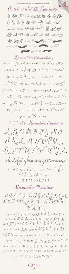 Butterscotch Typeface - Script
