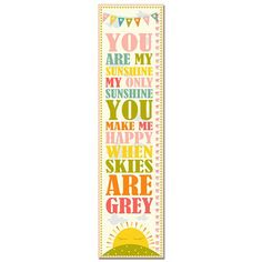buyinvite.com.au - You Are My Sunshine Pink Typography Growth Chart-GC00040