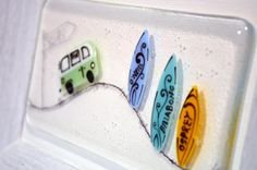 Camper Van and Surf by Nadia Lammas. Available from Artworx Gallery. www.artworx.co.uk