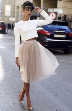 Юбка шопенка: С чем носить и Как сшить?