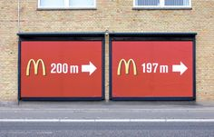 McDonald's Billboard - You just burned 1/00th of a fry.