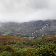 September autumn-tinged terrain after this morning's rain filled rivers & streams with white water tumbling down the slopes Morning Rain, 30 September, Rivers, Autumn, Mountains, Water, Travel, Gripe Water, Viajes