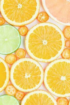 """Citrus Lemons and limes and oranges, oh my! The citrus scent from OdoBan, will make you say """"there's no place. Cute Wallpapers, Wallpaper Backgrounds, Fruit Photography, Fruit Slice, Orange Fruit, Photocollage, Fruit Art, Mellow Yellow, Aesthetic Wallpapers"""
