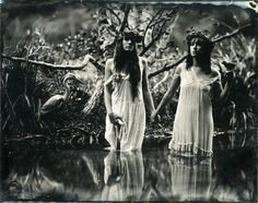 In Greek mythology, the Naiads were a type of water nymph (female spirit) who presided over fountains, wells, springs, streams, brooks and other bodies of fresh water.         (photographie de Monsieur Nède)