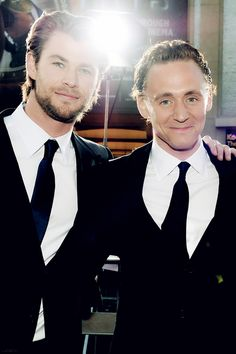 Hiddlesworth- love how they just glow around each other. <3