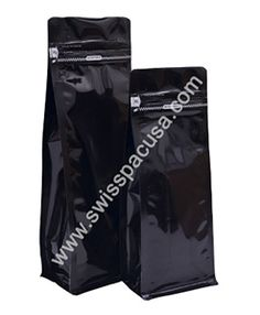 Our #12oz_340g #SHINYBLACK  #FLAT_BLOCKBOTTOMBAGS #WITHTEARZIPPER take considerably less space than traditional boxes and they are more suitable for various forms of products