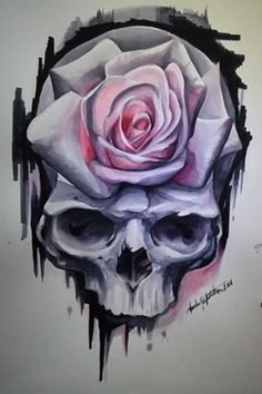 Skull and rose tattoo.