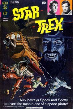 I love these old Star Trek comic book covers, posted by AstroDevil in memory of Leonard Nimoy. The title lettering is fantastic!