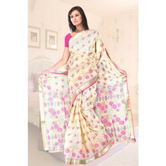 Gadwal sitara border with foil print - 450