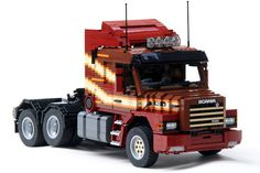 This beautifully detailed Scania 143M was found on Brickshelf today. It's the work of previous bloggee Ingmar Spijkhoven and it features suspension, RC drive and steering, working lights, a detaile...