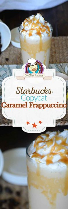 Make your own homemade Starbucks Caramel Frappuccino.  It is so easy to make with this easy recipe.